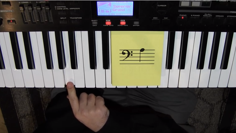 Picture of Finding Bass Clef Notes on the Piano Keyboard