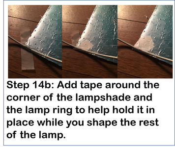 Attach the New Lampshade to the Lamp Rings
