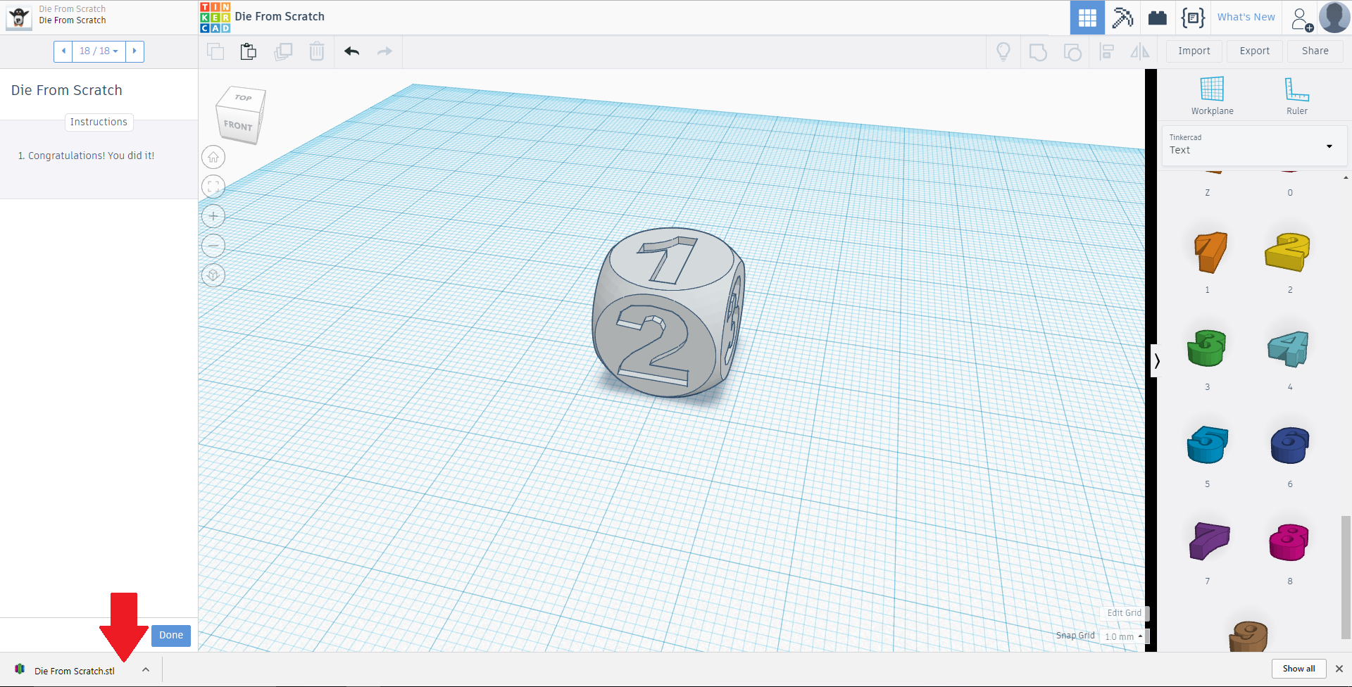 Picture of Export Your Object From Tinkercad