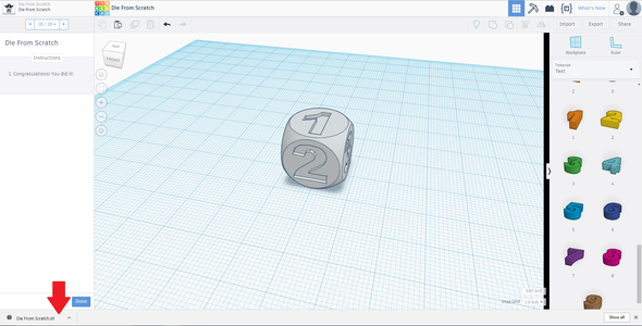 Export Your Object From Tinkercad