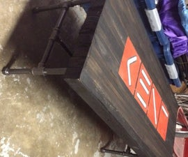Pallet Table with Logo Inlay