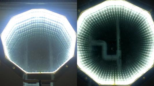 Experiments - 1 Partial Mirror and a Regular Mirror