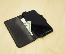 IPhone 5 Case, of Leather and Titanium