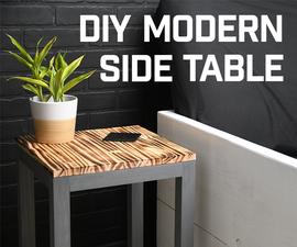 DIY Modern Side Table