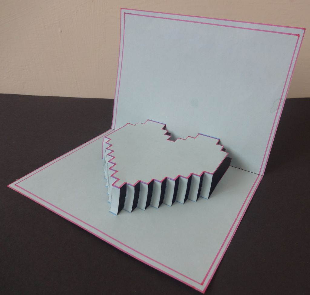 Picture of 5-minute Pop Up Pixelelated Heart Card