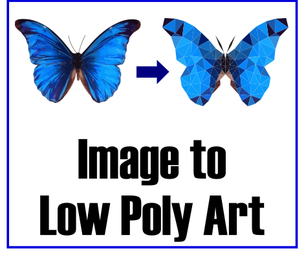 Image to Low Poly Vector Art