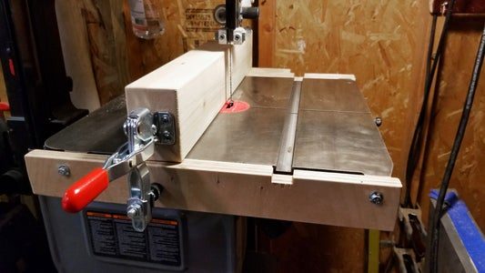 Quick-Release Bandsaw Fence