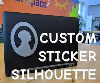 Custom Sticker Silhouette