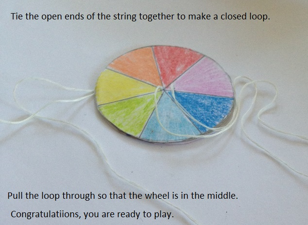 Picture of Knot the String to Form the Loop and Start Spinning