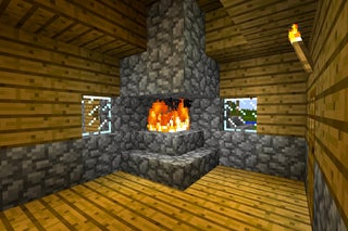 How To Make A Fireplace That Won T Burn Your House Down In Minecraft With Pictures Instructables