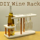 Copper Pipe and Wood Wine Rack