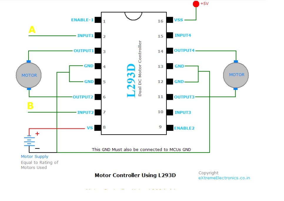 Picture of Interfacing DC Motor  -L293D