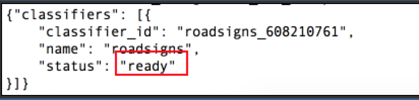 "Check If the Training of Images Is Done or Is in ""ready"" State."