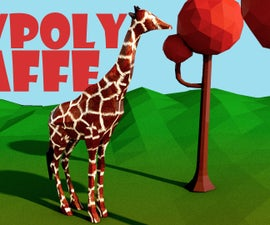 Low Poly Giraffe - Cinema 4D