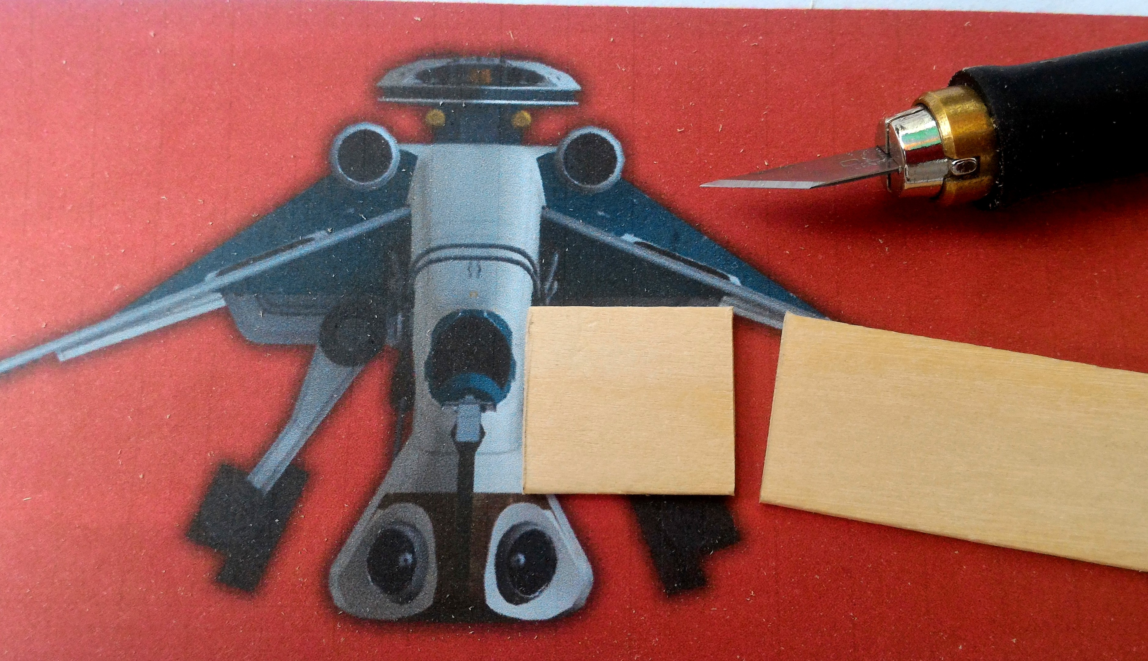 Picture of Wing and Engine Sub-assemblies