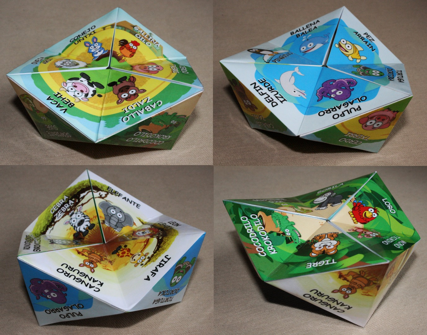 Picture of Animal Learning Toy (Kaleidocycle)