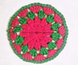 Christmas Themed Crochet Coaster
