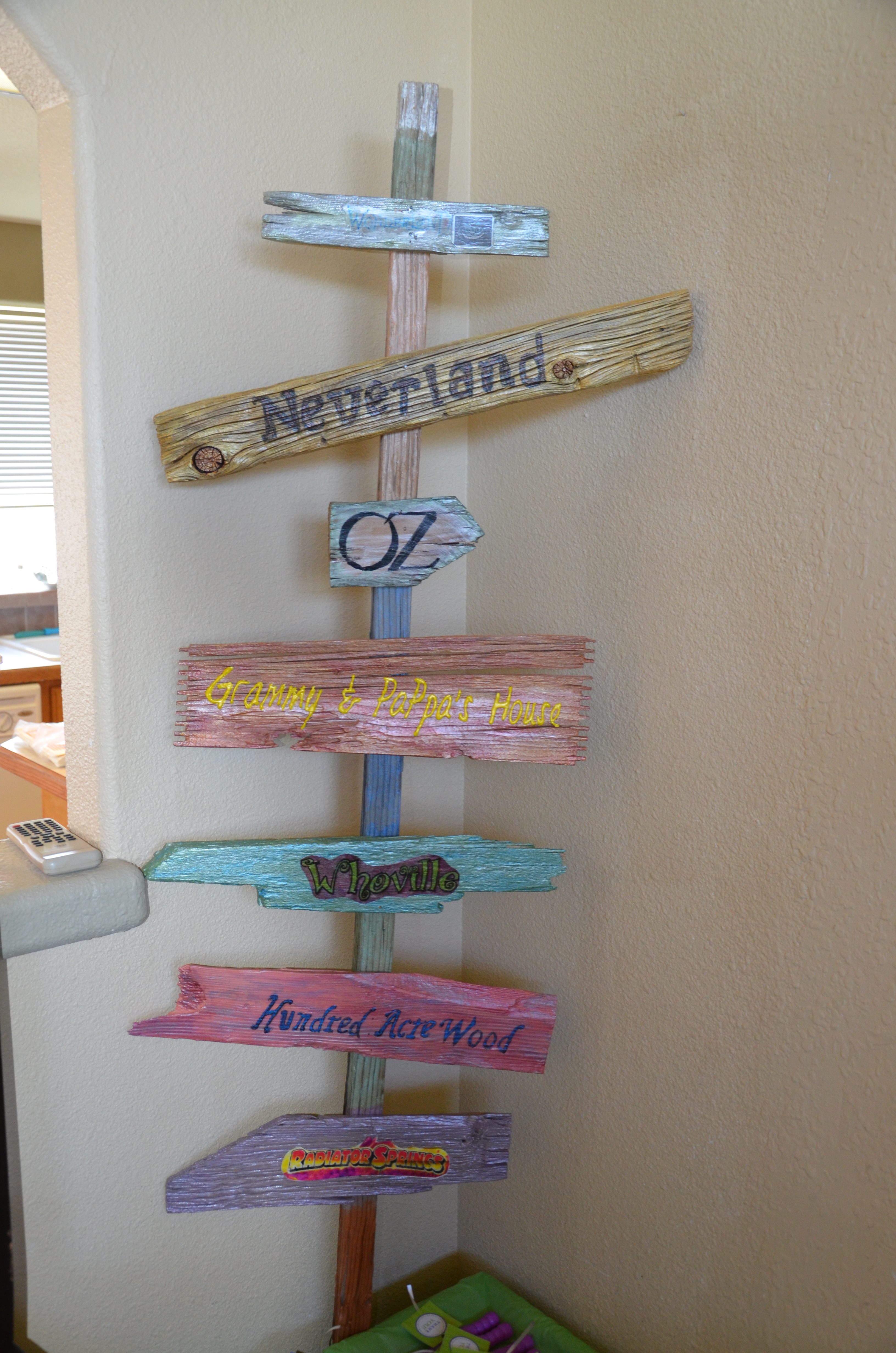 Picture of Sign Tree for Twin 5 Year Olds Neverland Birthday Party Out of Old Wood