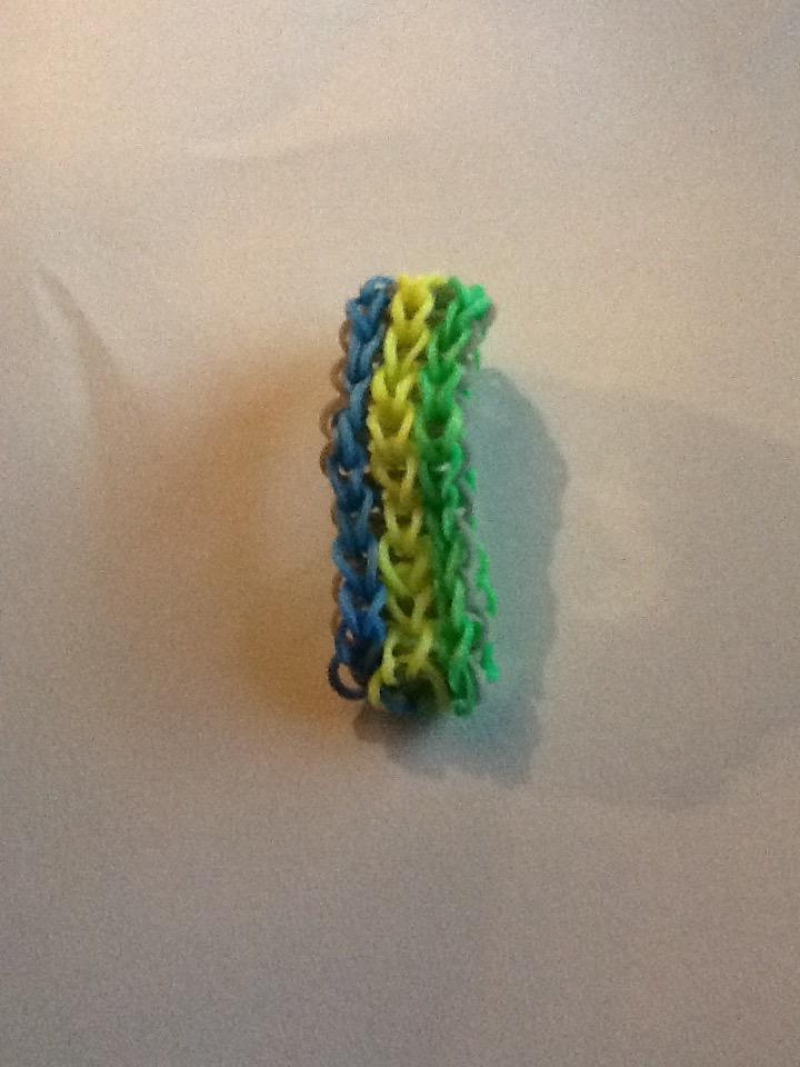 Picture of How to Make Single Triple Rainbow Loom Bracelet