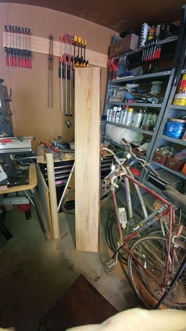 Simple live edge shelving