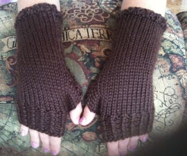 How to knit close-fitting fingerless gloves