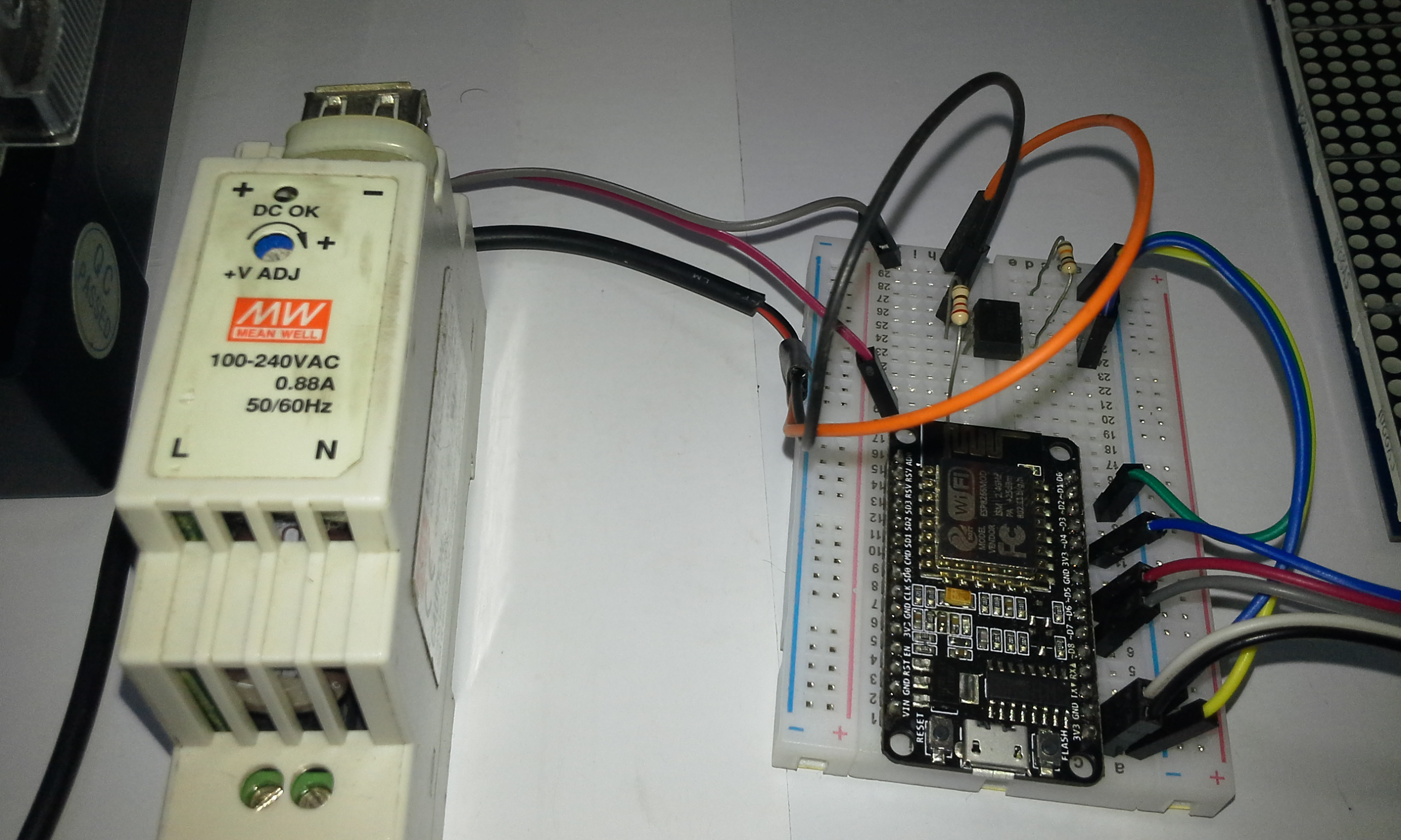 Picture of Connections Chint DS666 & ESP8266 NodeMCU