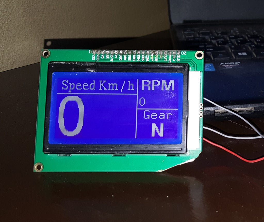 Arduino Bike Speedometer With 128 X 64 Graphics LCD : 5 Steps (with  Pictures) - InstructablesInstructables