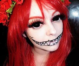 Halloween Makeup Using Sclera Circle Lenses