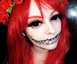Halloween Makeup Using Sclera Circle Lenses