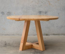 Round Dining Table Build With Only $300 in Tools and Materials