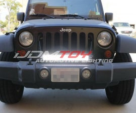 Jeep Wrangler Front LED Lightbar w/ No Bumper Mod Required