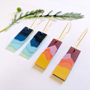 Paper Landscape Silhouette Earrings