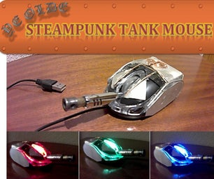 Steampunk Tank Mouse - Recycled & Pocket-Sized