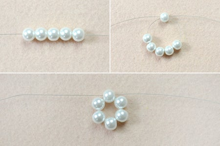 Make the Center Circle of the Beaded Snowflake Ornament