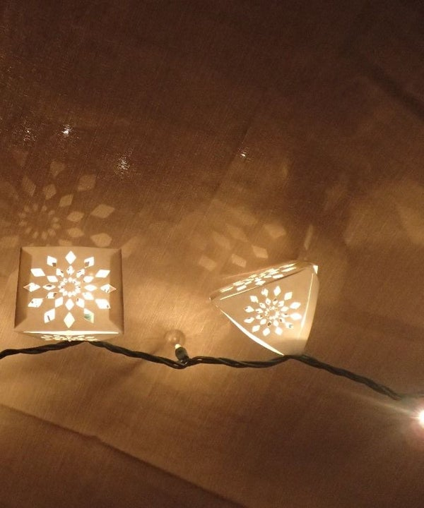 Custom String-lights With Silhouette Portrait