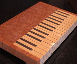 Piano End Grain Cutting Board