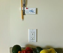 5-Minute Wall Pencil Holder