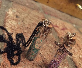 Bottled Glitter Necklaces