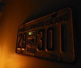 Make a Cool/Creepy License Plate Decoration!
