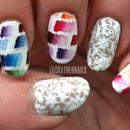 Chanel Spring 2014 Inspired Lace Nail Art