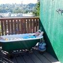 Off grid propane powered hot tub