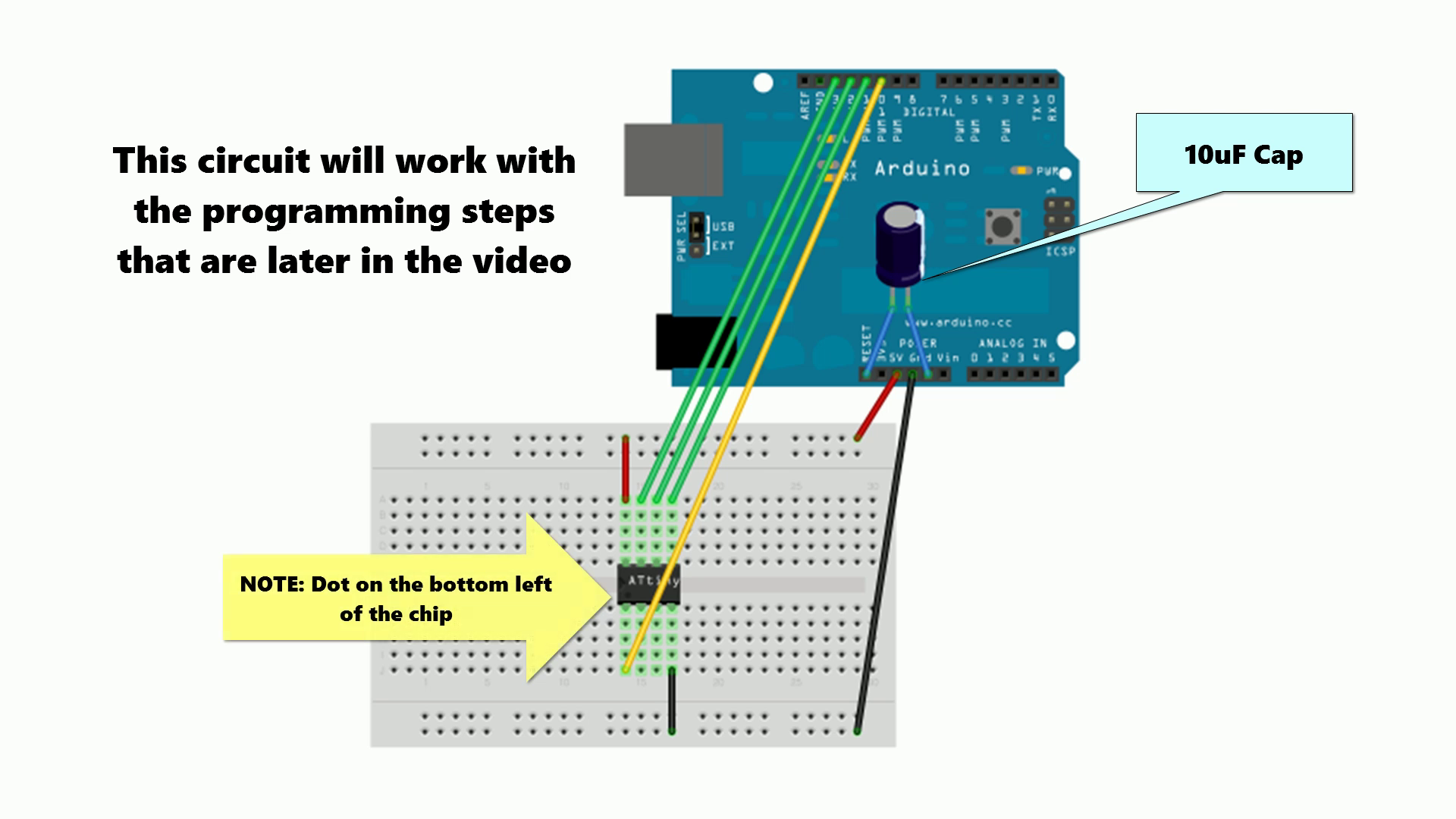 Picture of Breadboard Programmer Circuit