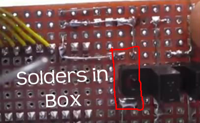 Picture of Solder Remaining Resistors