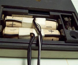 Make a battery substitute power connector