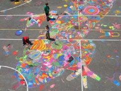 Kids Chalk Drawings = Satellite Photography Hacking?