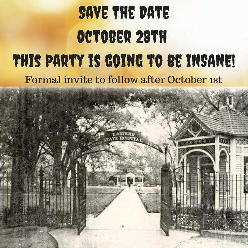 Picture of Asylum Halloween Party Invite