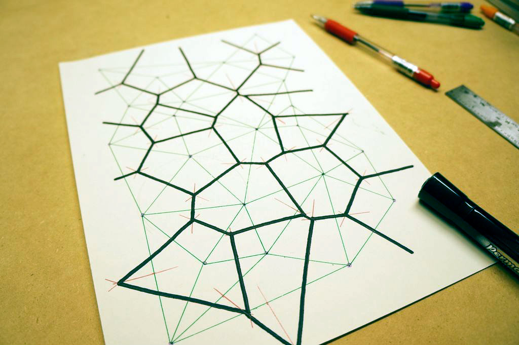 Picture of Hand-Drawn Voronoi Diagrams