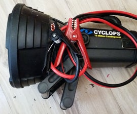 Recycled Spotlight for Camping (12V DC)