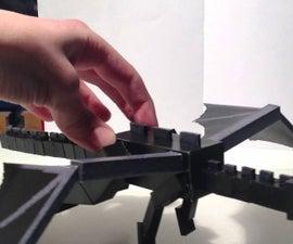 Full size ender dragon papercraft fight scene