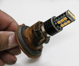 How to Fit a 1156 LED Bulb Into a 7507 Housing